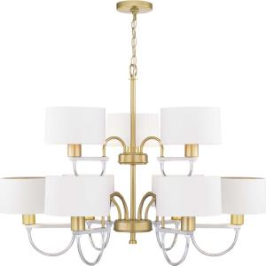 Rigsby - Chandeliers Light - 9 Light in Luxe and Mid-Century Modern style - 36 Inches wide by 26.25 Inches high