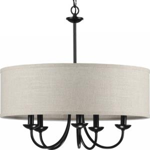 Drum Shade - 21.125 Inch Height - Chandeliers Light - 5 Light - Line Voltage