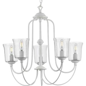 Bowman - Chandeliers Light - 5 Light - Bell Shade in Coastal style - 26 Inches wide by 23.25 Inches high