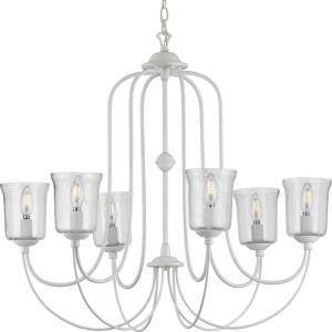 Bowman - Chandeliers Light - 6 Light - Bell Shade in Coastal style - 32 Inches wide by 28.88 Inches high