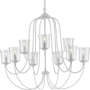 Bowman - Chandeliers Light - 9 Light - Bell Shade in Coastal style - 37 Inches wide by 33.25 Inches high