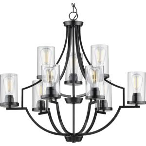 Lassiter - Chandeliers Light - 9 Light - Cylinder Shade in Modern style - 32 Inches wide by 29 Inches high