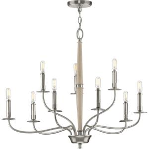 Durrell - Chandeliers Light - 9 Light in Coastal style - 32 Inches wide by 24.5 Inches high