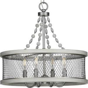 Austelle - Chandeliers Light - 4 Light in Farmhouse style - 18 Inches wide by 17.13 Inches high