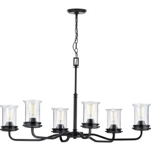 Winslett - Chandeliers Light - 6 Light - Cylinder Shade in Coastal style - 34.13 Inches wide by 21.25 Inches high