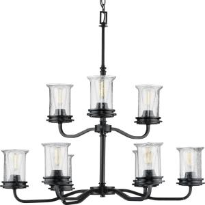 Winslett - Chandeliers Light - 9 Light - Cylinder Shade in Coastal style - 34.13 Inches wide by 31.63 Inches high