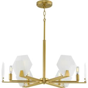 Rae - Chandeliers Light - 6 Light in Luxe and Mid-Century Modern style - 26.88 Inches wide by 14 Inches high