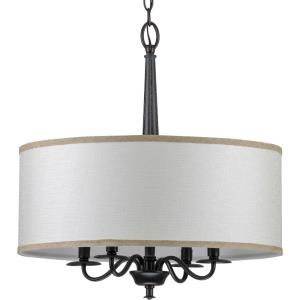 Durrell - Chandeliers Light - 4 Light - Drum Shade in Coastal style - 21 Inches wide by 22.5 Inches high