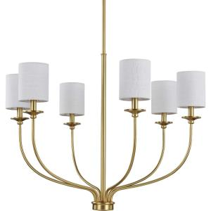 Bonita - Chandeliers Light - 6 Light in Luxe and New Traditional and Transitional style - 30.5 Inches wide by 24 Inches high