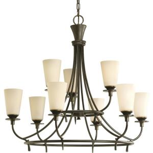 Nine-Light, Two-Tier Chandelier Fixture - Chandelier
