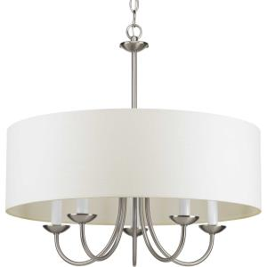 Drum Shade - Chandeliers Light - 5 Light in Farmhouse style - 21.63 Inches wide by 21.13 Inches high