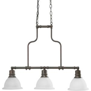 Madison - Chandeliers Light - 3 Light - Bell Shade in Transitional and Traditional style - 7.5 Inches wide by 23.88 Inches high