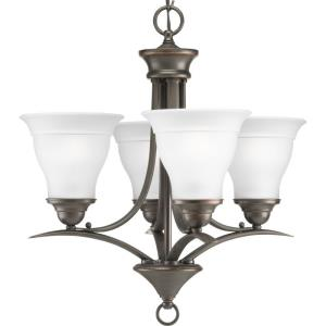 Trinity - Chandeliers Light - 4 Light in Transitional and Traditional style - 19 Inches wide by 20.5 Inches high