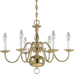 Americana - Chandeliers Light - 6 Light in Traditional style - 25 Inches wide by 18 Inches high