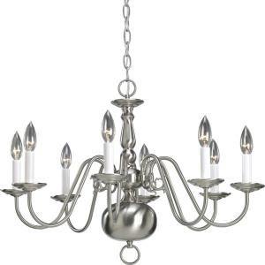 Eight-Light Chandelier Fixture - Chandelier