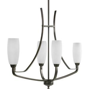 Wisten - Chandeliers Light - 4 Light - Tulip Shade in Modern style - 12.5 Inches wide by 29 Inches high