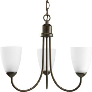Gather - Chandeliers Light - 3 Light in Transitional and Traditional style - 18.5 Inches wide by 15 Inches high
