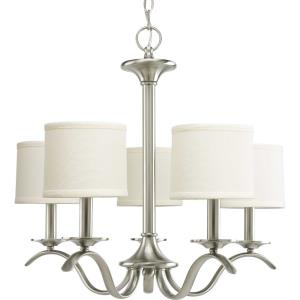 Inspire - 20 Inch Height - Chandeliers Light - 5 Light - Drum Shade - Line Voltage