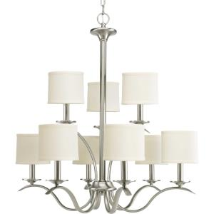 Inspire - Chandeliers Light - 9 Light - Drum Shade in Transitional and Traditional style - 29.38 Inches wide by 31 Inches high