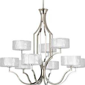 Caress - 33.625 Inch Height - Chandeliers Light - 9 Light - Line Voltage
