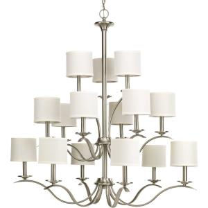 Inspire - Chandeliers Light - 15 Light - Drum Shade in Transitional and Traditional style - 39.5 Inches wide by 40.25 Inches high