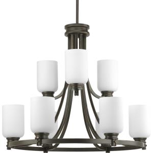 Orbitz - Chandeliers Light - 9 Light in Farmhouse style - 27 Inches wide by 23.75 Inches high