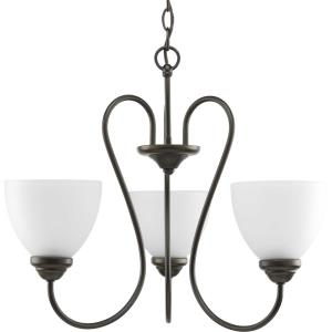 Heart - Chandeliers Light - 3 Light in Farmhouse style - 21.69 Inches wide by 18 Inches high