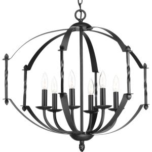 Greyson - Chandeliers Light - 6 Light in Farmhouse style - 26 Inches wide by 23.63 Inches high
