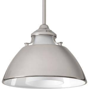 Carbon - Pendants Light - 1 Light in Mid-Century Modern style - 11 Inches wide by 8.25 Inches high