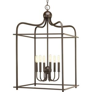 Assembly Hall - Pendants Light - 6 Light in Coastal style - 20 Inches wide by 32.75 Inches high