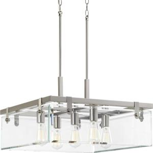 Glayse - Pendants Light - 5 Light - Beveled Shade in Luxe and Modern style - 22.75 Inches wide by 13.75 Inches high