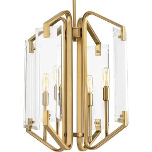 Cahill - Pendants Light - 4 Light in Luxe and Mid-Century Modern style - 15.75 Inches wide by 19.69 Inches high
