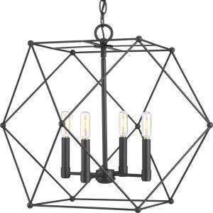 Spatial - Pendants Light - 4 Light in Bohemian and Modern style - 23.5 Inches wide by 19 Inches high