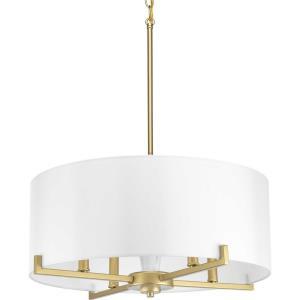 Palacio - 9.625 Inch Height - Pendants Light - 4 Light - Drum Shade - Line Voltage