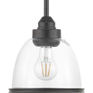 Saluda - Pendants Light - 1 Light - Bell Shade in Coastal style - 7.25 Inches wide by 8 Inches high