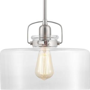 Calhoun - Pendants Light - 1 Light - Cylinder Shade in Farmhouse style - 12 Inches wide by 9.38 Inches high