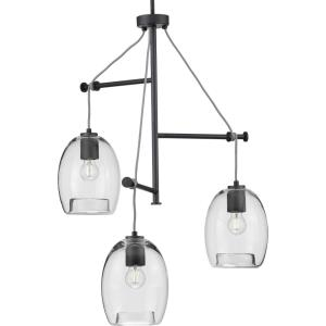Caisson - Pendants Light - 3 Light - Globe Shade in Bohemian and Mid-Century Modern style - 30.38 Inches wide by 35 Inches high