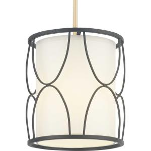 Landree Mini-Pendant 1 Light White Silk