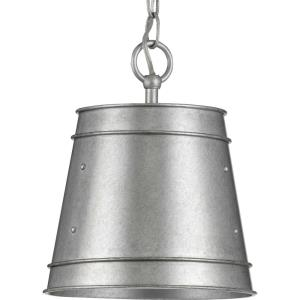 Galveston - Pendants Light - 1 Light - Cylinder Shade in Farmhouse style - 9.25 Inches wide by 11.13 Inches high