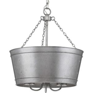 Galveston - Pendants Light - 3 Light - Cylinder Shade in Farmhouse style - 17.75 Inches wide by 18.88 Inches high