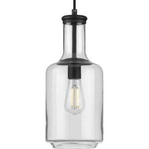 Latrobe - Pendants Light - 1 Light - Cylinder Shade in Coastal style - 7 Inches wide by 17 Inches high