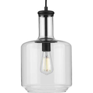 Latrobe - Pendants Light - 1 Light - Cylinder Shade in Coastal style - 9.44 Inches wide by 15.5 Inches high