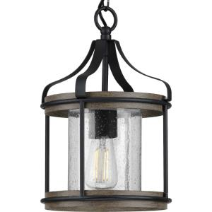 Brenham - Pendants Light - 1 Light - Cylinder Shade in Farmhouse style - 10 Inches wide by 15 Inches high