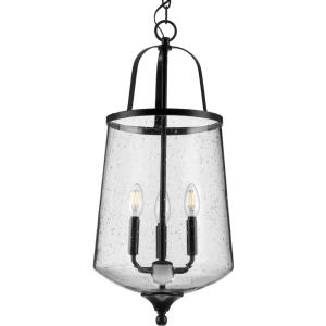 Passage - Pendants Light - 3 Light - Round Shade in Farmhouse style - 12 Inches wide by 26.75 Inches high
