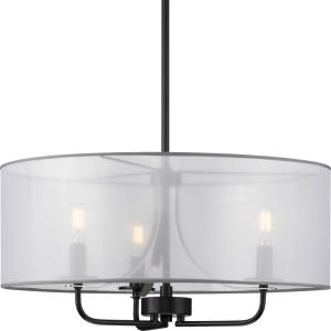 Riley - Pendants Light - 3 Light - Drum Shade in New Traditional and Transitional style - 21 Inches wide by 11 Inches high