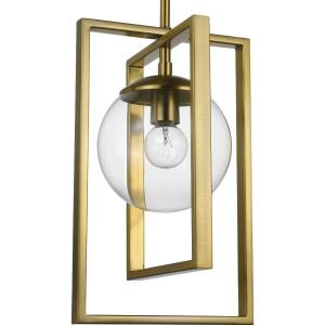 Atwell - Pendants Light - 1 Light - Globe Shade in Luxe and Mid-Century Modern style - 8.25 Inches wide by 13.12 Inches high