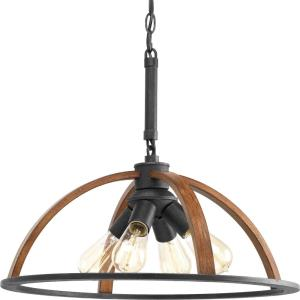 Trestle - Pendants Light - 4 Light in Farmhouse style - 20 Inches wide by 17 Inches high