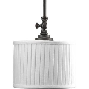 Clayton Mini-Pendant 1 Light Cream Linen Fabric