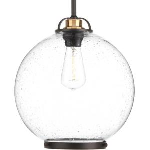 Chronicle Pendant 1 Light in Coastal style - 12 Inches wide by 13 Inches high