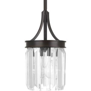 Glimmer - Pendants Light - 1 Light - Drop Shade in Luxe and New Traditional and Transitional style - 6 Inches wide by 11.25 Inches high